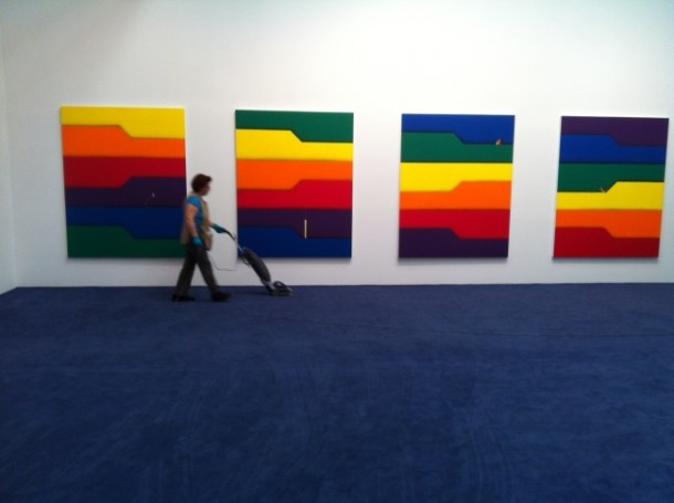 A view from the Friedrich Kunath exhibition titled The Temptation to Exist (May Contain Nuts)
