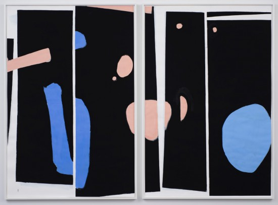 Scott Treleaven Your Head Is a Haunted House (for Derek McCormack), 2015, DIPTYCH: pastel, gouache, gesso, house paint and collage on paper, two panels; each panel 75 x 50.5 inches