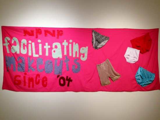 Jessica Whitbread, NPNP Facilitating Makeouts Since 2004, 2012, Cloth, felt, glitter and underwear