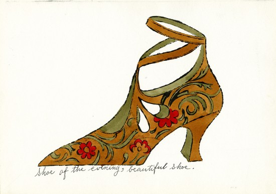 """Andy Warhol, """"Shoe of the Evening, Beautiful Shoe,"""" ca. 1955, ©The Andy Warhol Foundation for the Visual Arts, Inc., courtesy of The Andy Warhol Museum, Pittsburgh"""