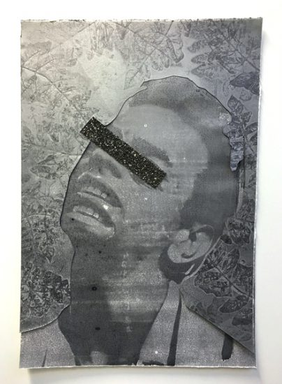Idol Eclipsed (Johnny), 2016 monotype print and collage
