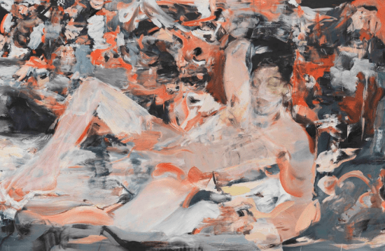 Cecily Brown, Raspberry Beret, 2015-16, oil and pastel on linen (all images courtesy the artists and Cheim & Read, New York)