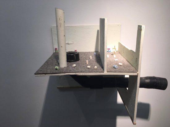 Mathis Altmann, T.P. Fair, 2016, wood, miniatures, plastic, cloth, brass