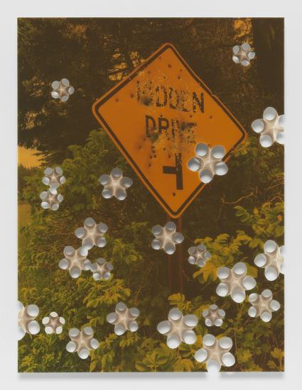 Donald Moffett, Lot 082616 (hidden drive), 2016 Pigmented epoxy resin, archival inkjet print on wood panel support with steel hardware
