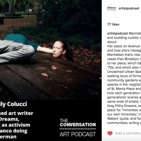 Listen To Your Faithful Co-Founder Emily Colucci Talk Filthy Dreams On The Conversation Art Podcast