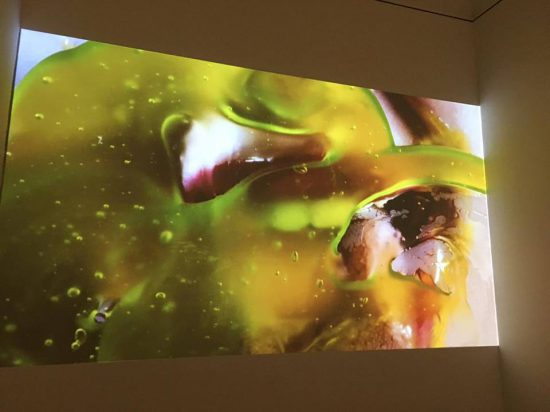 Marilyn Minter, Green Pink Caviar, 2009, HD Video (photo by author)
