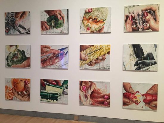 Marilyn Minter, 100 Food Porn, 1989-1990, enamel on metal (photo by author)