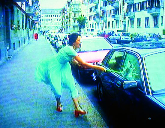 Pipilotti Rist, Ever is Over All, 1997 (still) Two-channel video and sound installation, color, with carpet; 4:07 min Dimensions variable Sound by Anders Guggisberg and Rist Courtesy the artist, Hauser & Wirth, and Luhring Augustine