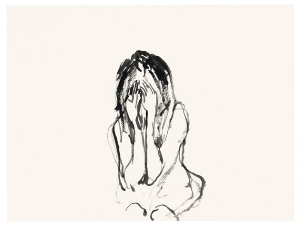 Tracey Emin, She Kept Crying, 2012, gouache on paper (Courtesy the artist and INVISIBLE-EXPORTS, New York)