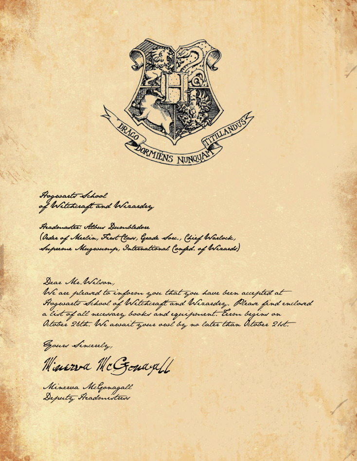 picture relating to Harry Potter Stencils Printable named Totally free Printable Hogwarts Invitation Template