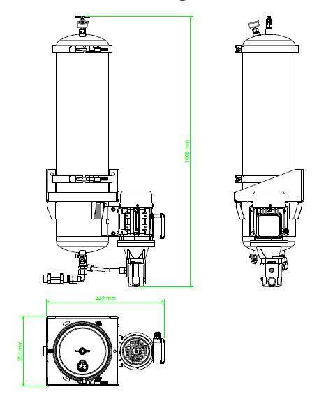 Układ ogólny- agregat filtracyjny AD1003-W-DX