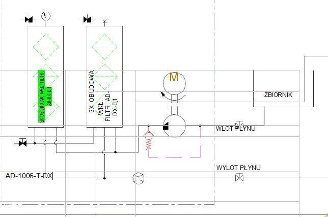 schemat hydrauliczny- agregat filtracyjny AD1006-T-DX