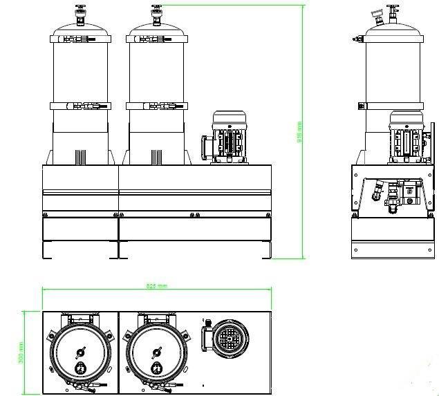 układ ogólny- agregat filtracyjny AD1004-T-DX