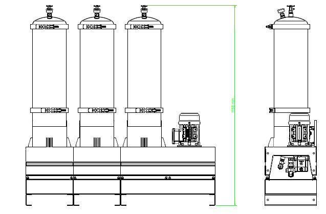 układ ogólny- agregat filtracyjny AD1009-T-DX