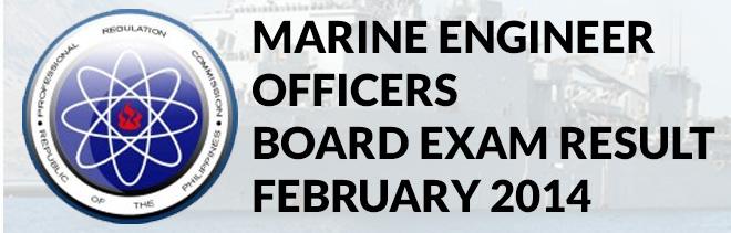 marine engineer board exam result