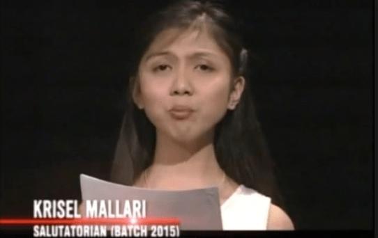 krisel mallari full graduation speech