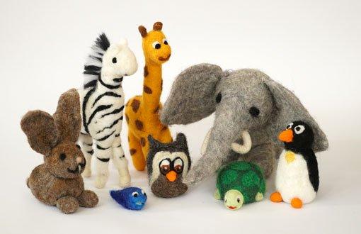 Tiere aus Schafwolle