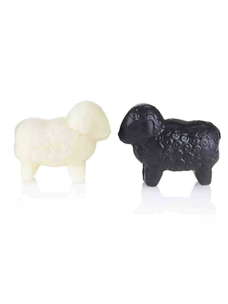 Schafmilchseife klein, weiß und schwarz