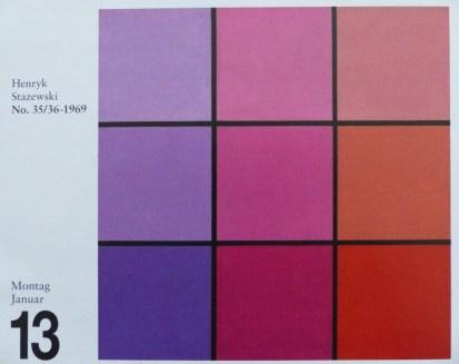 Mosaiktechnik 2 - Kalendervorlage