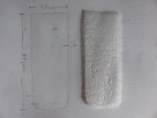 Die Schablone aus dünner Trittschallfolie schneiden.