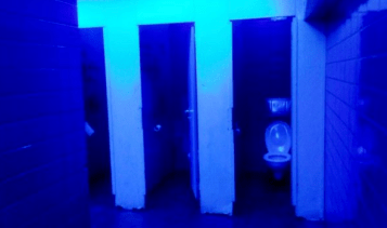 Blue light to deter drug users. Both images taken form the book Uncomfortable Design published by G.L.O.R.I.A
