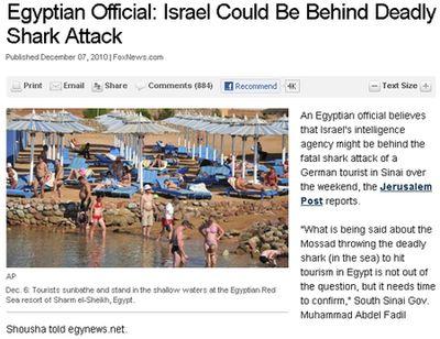 Атаки акул в Египте