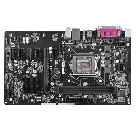 asrock h81 pro btc cryptocurrency mining motherboard
