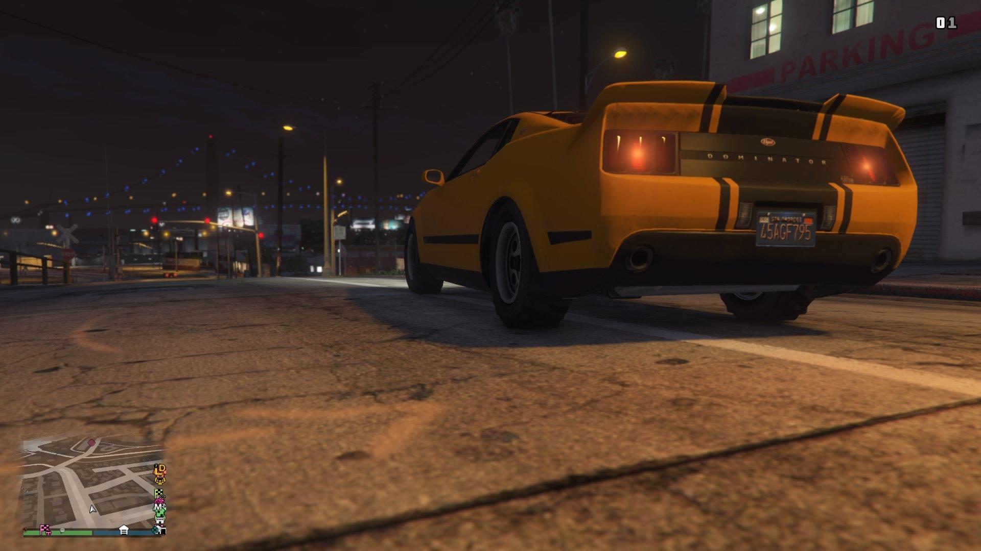 Grand Theft Auto Online Dominator at Night