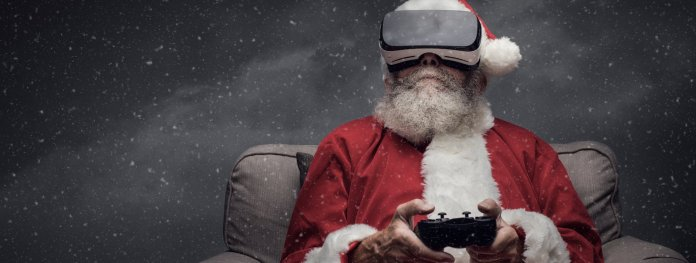 Santa Claus Playing Games