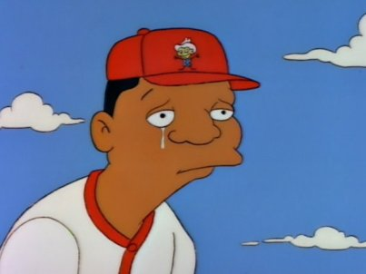 Darryl Strawberry crying The Simpsons