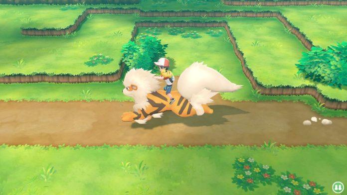 Riding pokemon Lets go