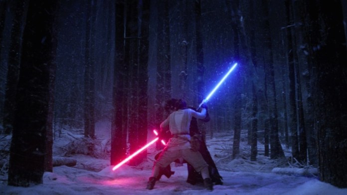Best Lightsaber Battles: Kylo Ren v Rey The Force Awakens