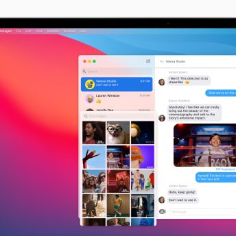 macOS Big Sur brings a new photo picker and #images to Messages, making it easy to quickly share images, GIFs, and videos.