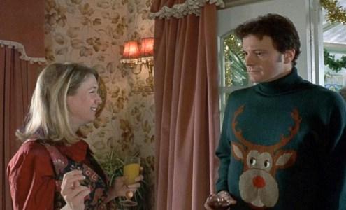 Zellweger and Firth in Bridget Jones' Dairy