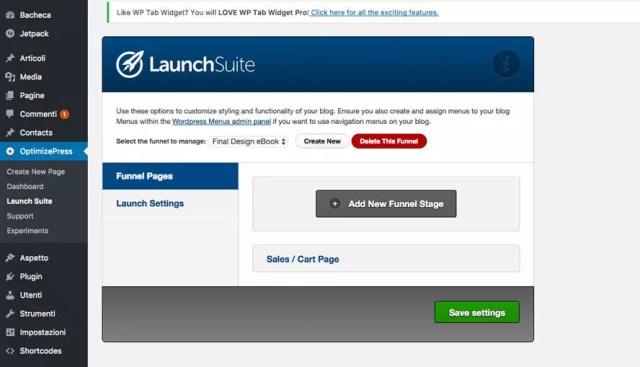 funnel di vendita wordpress