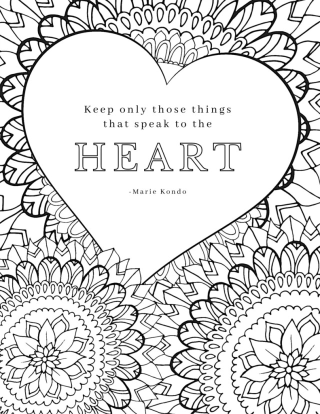 Free Printable Adult Coloring Pages with 22 Inspirational Quotes