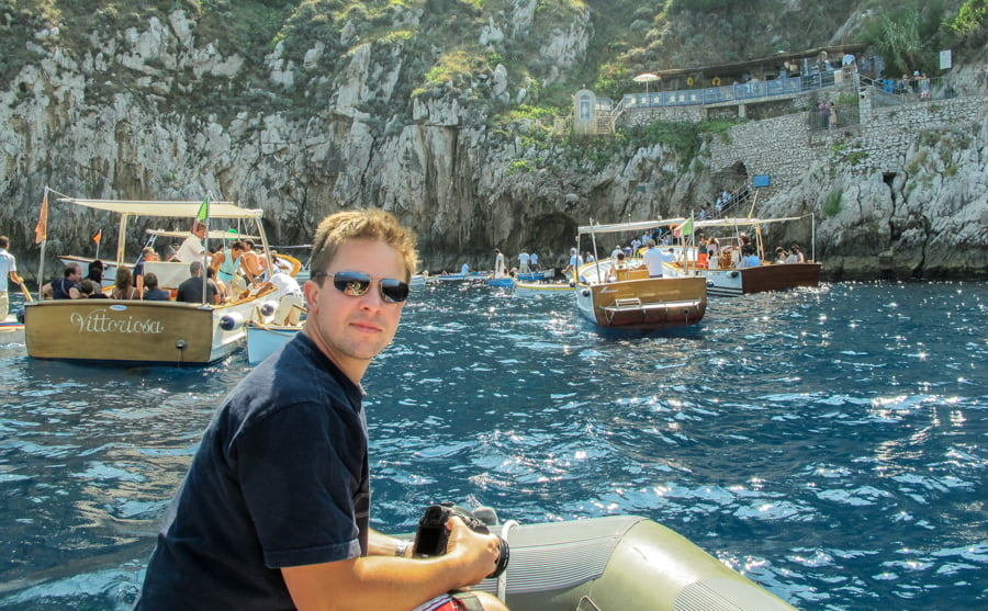 Charter a dinghy and sail around Capri