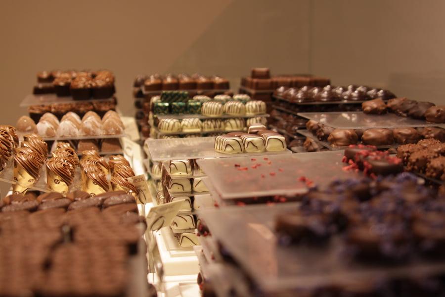 Chocolate in Brugge, Belgium
