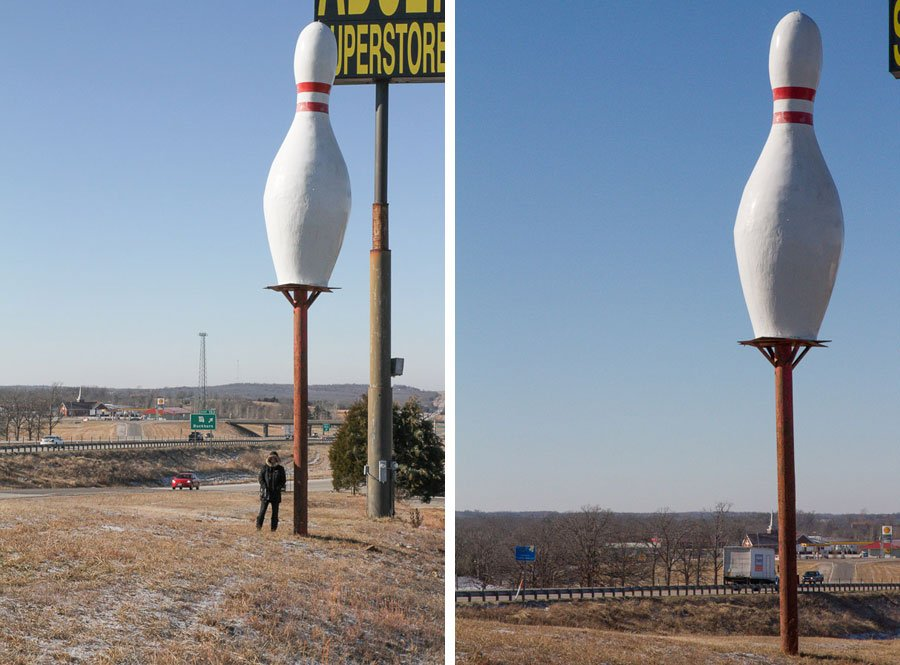Giants on Route 66: Giant Bowling Pin!