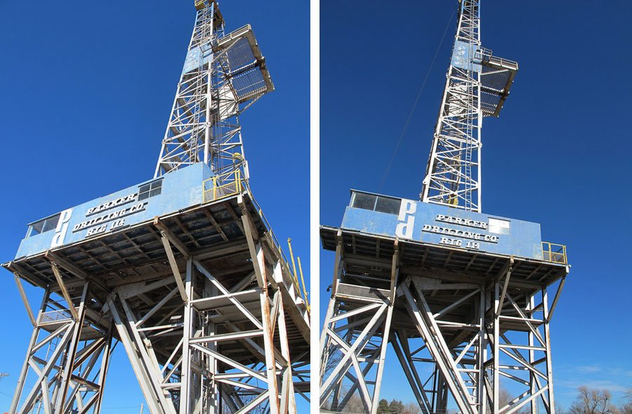 Giants on Route 66: 179 foot- tall oil derrick