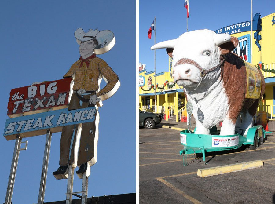 "The Big Texan Steak Ranch - Home of the ""Free 72 Oz Steak Dinner"""