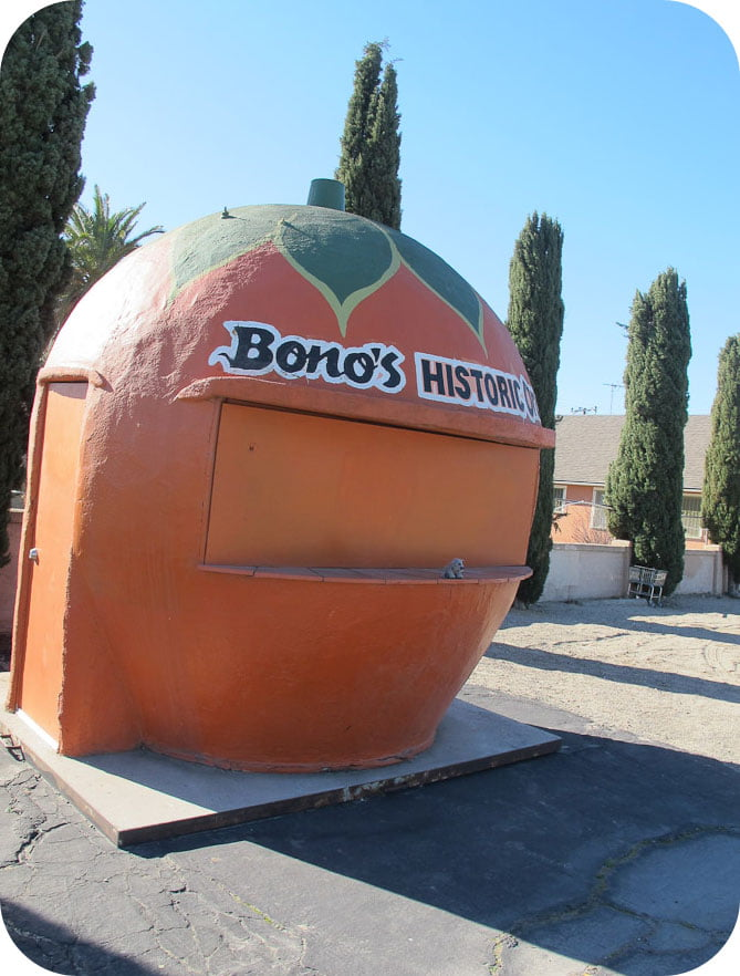 Giants along Route 66: Bonos Historic Orange