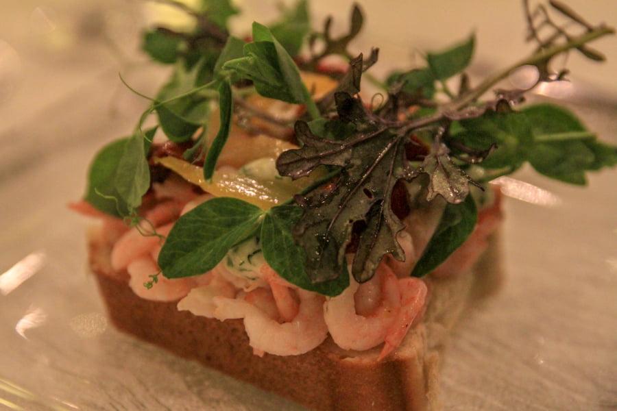 Restaurant Froken koch shrimp sandwith