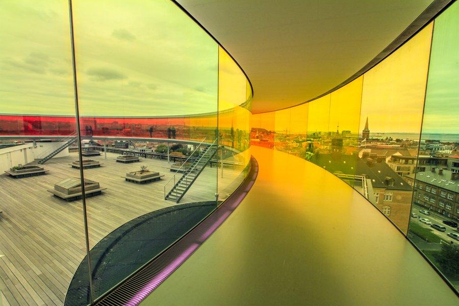 Rainbow panorama in Aarhus, Denmark