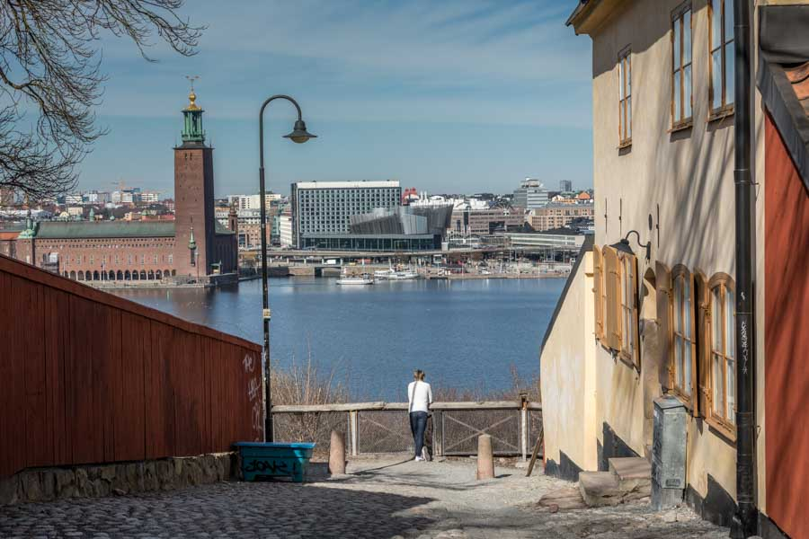 Views of Stockholm skyline
