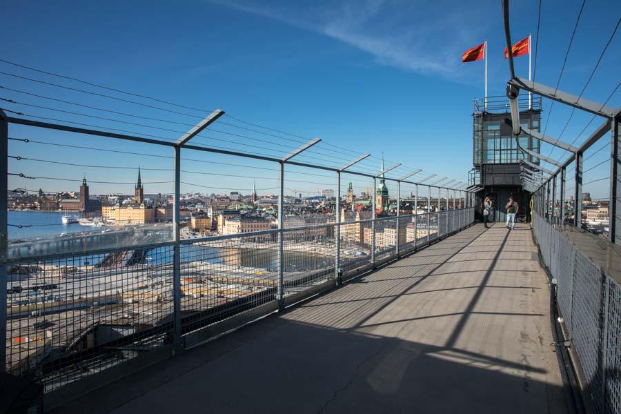 Views of Stockholm skyline from Gondolen
