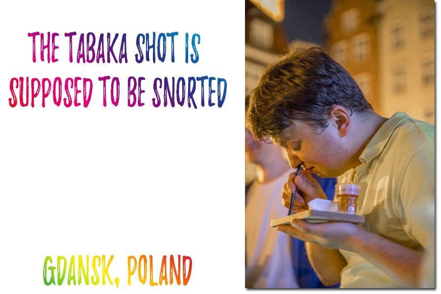 Vodka tasting in Gdansk, Poland