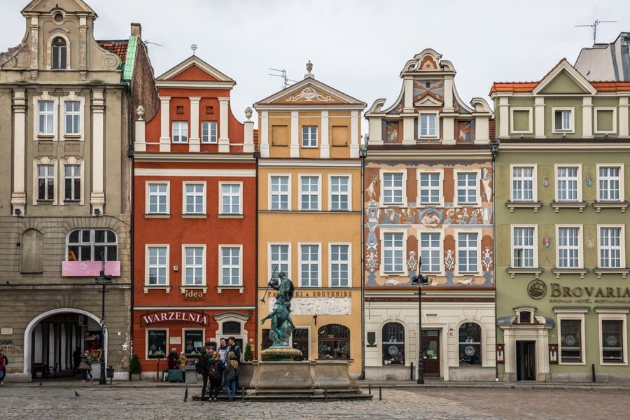 Poznan Square in Poland