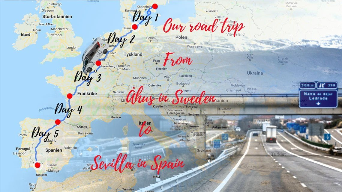 Roadtrip from Sweden to Spain