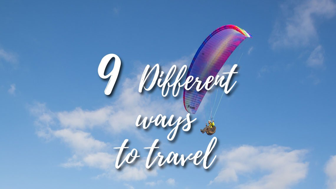 Different ways to travel